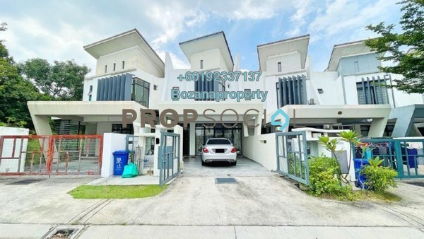 Terrace For Sale in Laman Glenmarie, Saujana Freehold Fully Furnished 4R/4B 998k