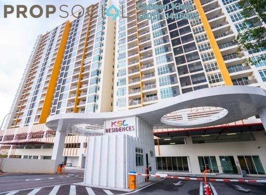 Serviced Residence For Rent in KSL Residences @ Daya, Johor Bahru Freehold Semi Furnished 3R/3B 1k