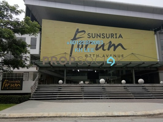 Shop For Rent in Sunsuria Forum, Setia Alam Freehold Unfurnished 0R/0B 3.5k