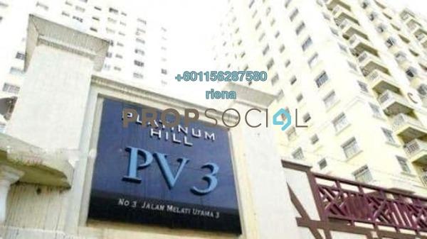 Condominium For Sale in Taman Melati, Setapak Freehold Semi Furnished 4R/2B 430k