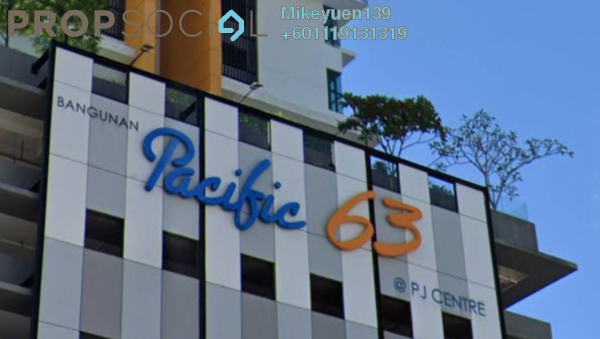 Condominium For Sale in Pacific 63, Petaling Jaya Freehold Unfurnished 1R/1B 550k