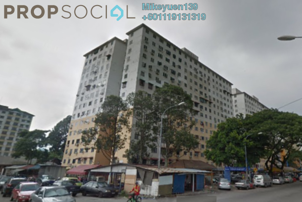 Apartment For Sale in Taman Sri Sentosa, Old Klang Road Freehold Semi Furnished 3R/2B 125k