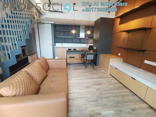 Duplex For Rent in TWY Mont Kiara, Mont Kiara Freehold Semi Furnished 1R/1B 2.3k
