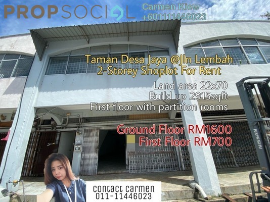 Shop For Rent in Taman Desa Jaya, Johor Bahru Freehold Semi Furnished 10R/4B 1.6k