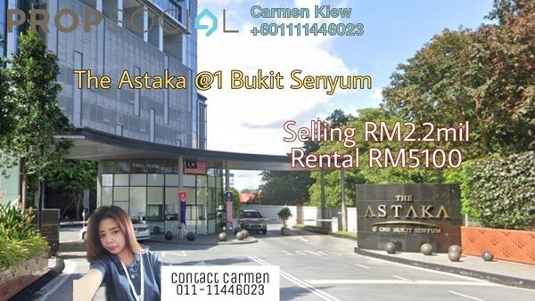 Condominium For Sale in The Astaka @ 1 Bukit Senyum, Johor Bahru Freehold Fully Furnished 4R/6B 2.2m