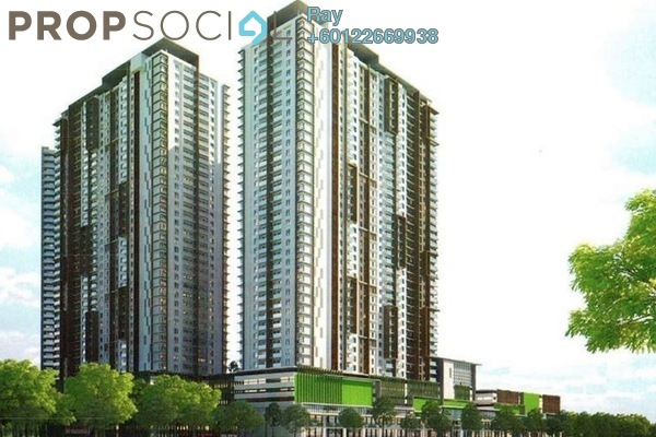 Condominium For Sale in The Henge Residence, Kepong Freehold Unfurnished 3R/2B 450k