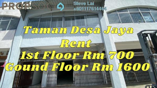 Shop For Rent in Taman Desa Jaya, Johor Bahru Freehold Semi Furnished 0R/0B 2.3k