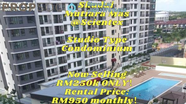 SoHo/Studio For Rent in Taman Mutiara Mas, Skudai Freehold Fully Furnished 0R/1B 950translationmissing:en.pricing.unit