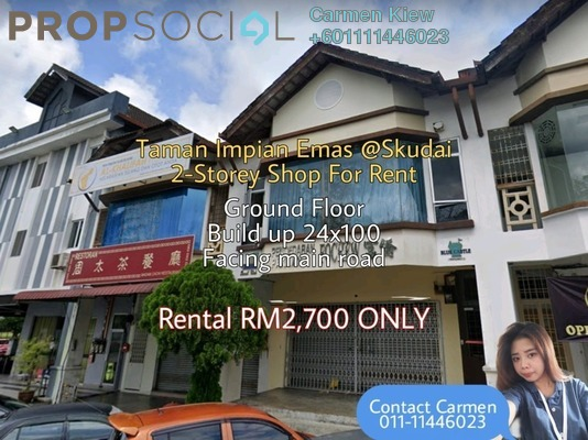 Shop For Rent in Taman Impian Emas, Skudai Freehold Unfurnished 0R/2B 2.7k