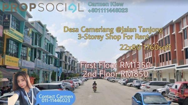 Shop For Rent in Taman Desa Cemerlang, Ulu Tiram Freehold Unfurnished 0R/2B 1.35k