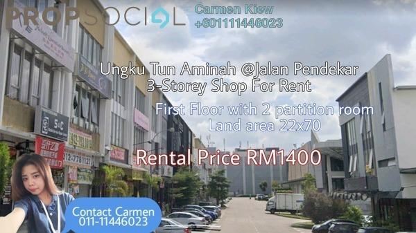 Shop For Rent in Taman Ungku Tun Aminah, Skudai Freehold Unfurnished 2R/2B 1.4k