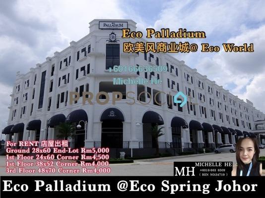 Shop For Rent in Taman Ekoflora, Johor Bahru Freehold Unfurnished 0R/0B 5k