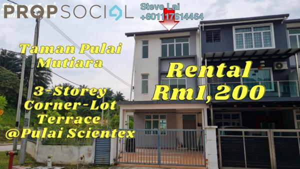 Terrace For Rent in Taman Pulai Mutiara, Skudai Freehold Unfurnished 4R/3B 1.2k