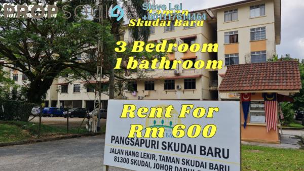 Apartment For Rent in Taman Skudai Baru, Skudai Freehold Unfurnished 3R/1B 600translationmissing:en.pricing.unit