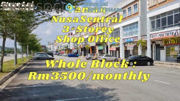 Shop For Rent in Nusa Sentral, Iskandar Puteri (Nusajaya) Freehold Fully Furnished 0R/0B 3.5k