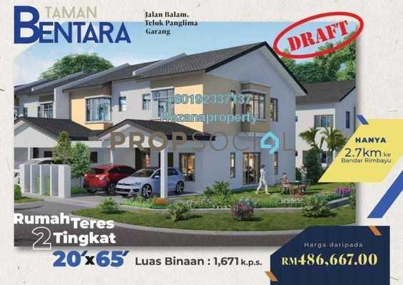 Terrace For Sale in Taman Bentara, Telok Panglima Garang Freehold Unfurnished 4R/3B 438k