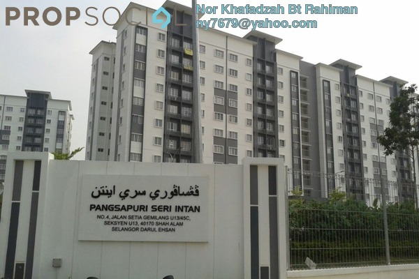 Apartment For Sale in Seri Intan Apartment, Setia Alam Freehold Unfurnished 3R/2B 320k