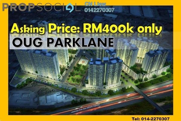 Condominium For Sale in OUG Parklane, Old Klang Road Freehold Unfurnished 3R/2B 400k