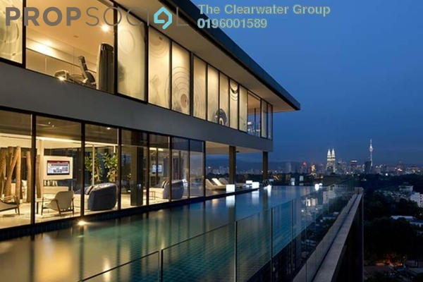 Condominium For Sale in Clearwater Residence, Damansara Heights Freehold Fully Furnished 1R/1B 1.19m