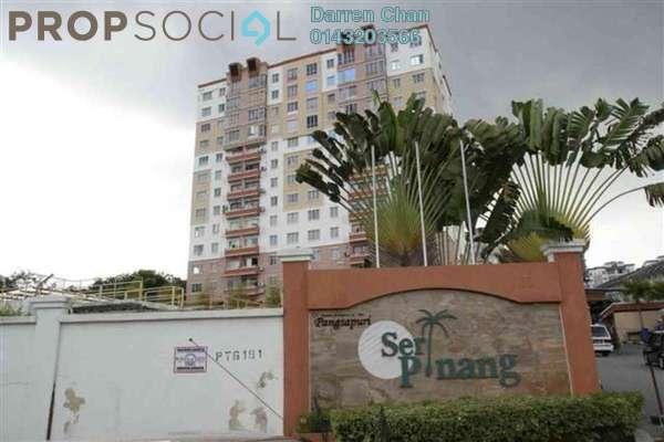 Apartment For Rent in Seri Pinang Apartment, Seri Kembangan Freehold Fully Furnished 3R/2B 1.2k