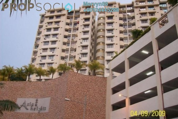 Condominium For Sale in Asia Heights, Farlim Freehold semi_furnished 3R/2B 350k