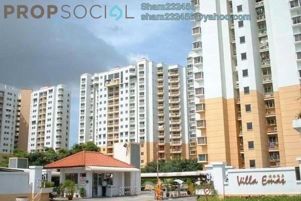 Apartment For Rent in Villa Emas, Bayan Indah Leasehold Unfurnished 3R/2B 1.5k