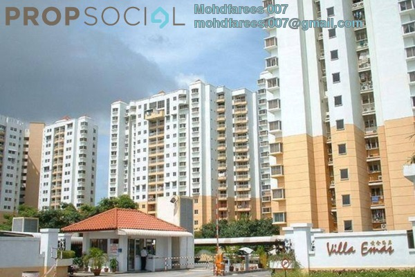 Apartment For Rent in Villa Emas, Bayan Indah Leasehold Fully Furnished 3R/2B 1.5k