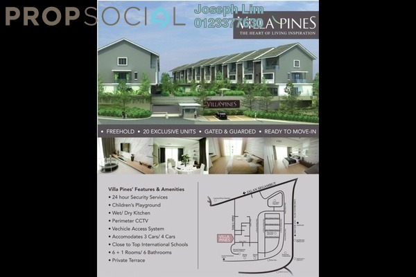 For Sale House at Villa Pines, Segambut Freehold Semi Furnished 6R/B 1.73m