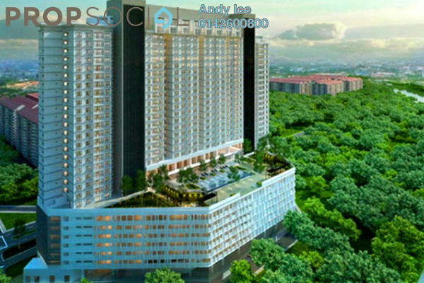 Serviced Residence For Sale in The Edge Residen, Subang Jaya Leasehold Semi Furnished 2R/2B 380k