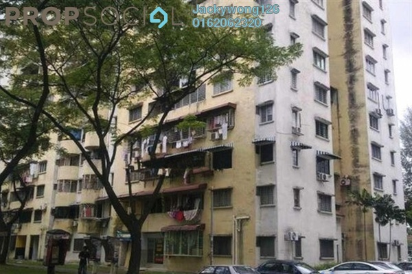 Apartment For Rent in Taman Miharja, Cheras Leasehold Semi Furnished 3R/2B 1.2k