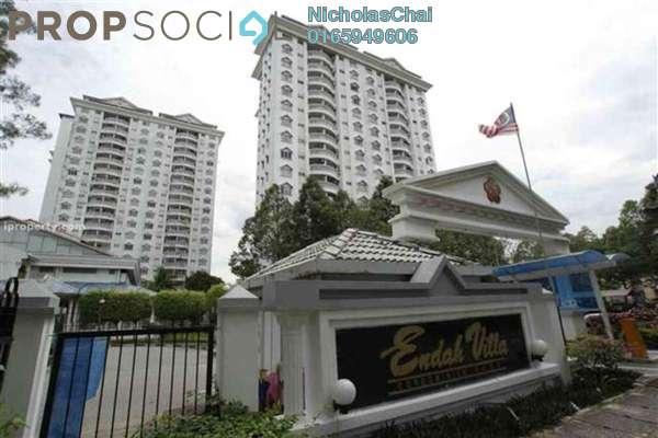 Condominium For Rent in Endah Villa, Sri Petaling Leasehold Fully Furnished 4R/3B 1.9k