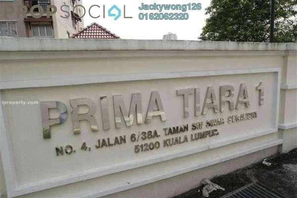 Condominium For Rent in Prima Tiara 1, Segambut Freehold Semi Furnished 3R/2B 1.2k