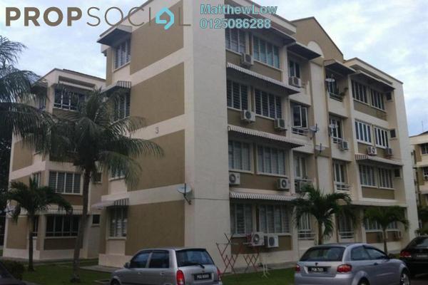 Condominium For Rent in Mawar Apartment, Sungai Nibong Freehold Semi Furnished 3R/2B 1.2k