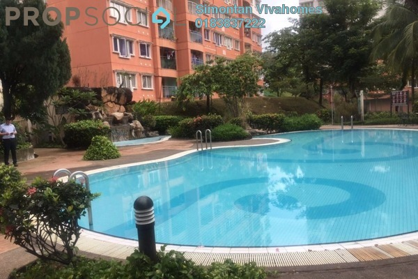 For Sale Apartment at Kenanga Apartment, Bandar Kinrara Freehold Semi Furnished 3R/2B 343k