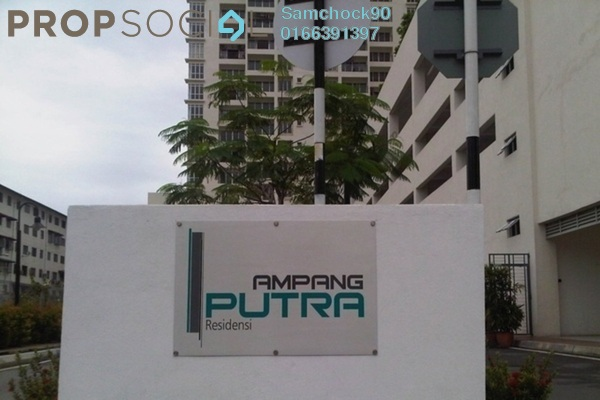 Condominium For Sale in Ampang Putra Residency, Ampang Leasehold Fully Furnished 3R/2B 625k