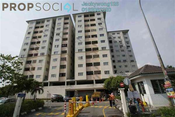 Apartment For Rent in Intan Apartment, Setiawangsa Freehold Semi Furnished 3R/2B 1.3k
