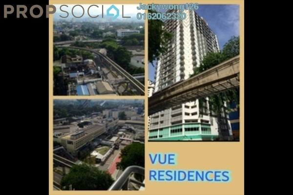 Condominium For Rent in Vue Residences, Titiwangsa Freehold Fully Furnished 2R/1B 2.4k