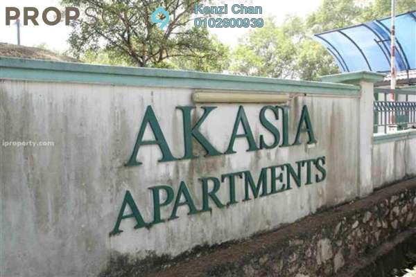 Apartment For Rent in Akasia Apartment, Pusat Bandar Puchong Freehold Semi Furnished 3R/2B 1.2k
