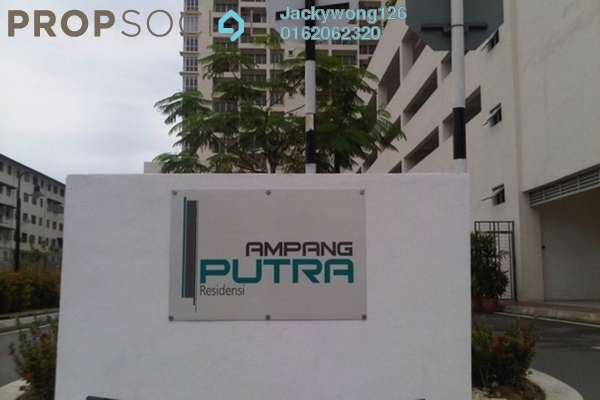Condominium For Sale in Ampang Putra Residency, Ampang Leasehold Unfurnished 3R/2B 630k