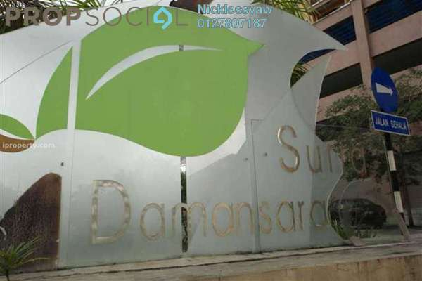 Condominium For Sale in Suria Damansara, Kelana Jaya Leasehold Fully Furnished 3R/2B 520k