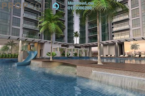 Condominium For Rent in The Latitude, Tanjung Tokong Freehold Semi Furnished 3R/3B 1.8k