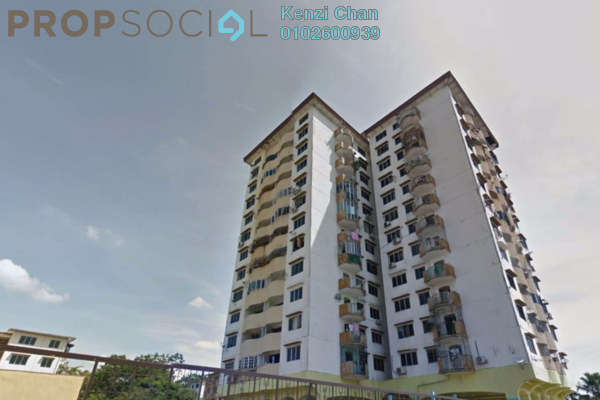 For Rent Apartment at PKNS SS3/39 Flat, Kelana Jaya Freehold Unfurnished 3R/1B 1.2k
