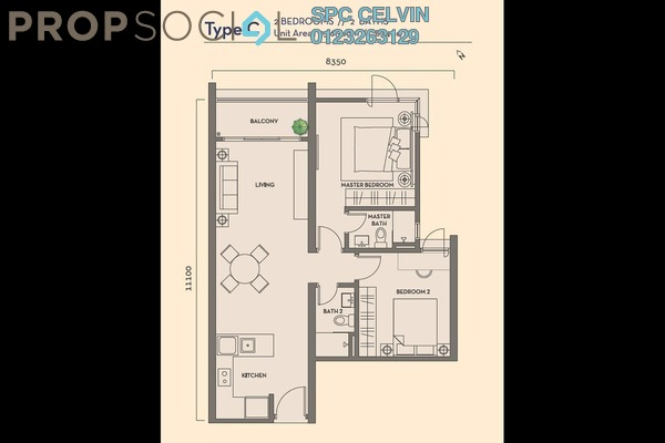 Condominium For Rent in Residency V, Old Klang Road Freehold Semi Furnished 2R/2B 1.75k