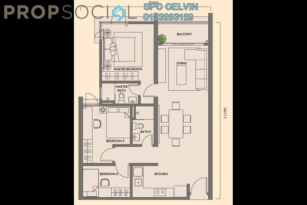 Condominium For Rent in Residency V, Old Klang Road Freehold Semi Furnished 2R/2B 1.8k