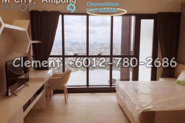 Condominium For Rent in M City, Ampang Hilir Freehold Fully Furnished 0R/1B 1.8k