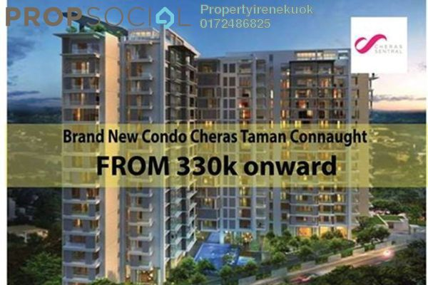 Apartment For Sale in Cheras Sentral, Cheras Freehold Unfurnished 3R/2B 330k