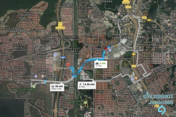 Condominium For Sale in Palm Spring, Kota Damansara Freehold Semi Furnished 3R/2B 420k
