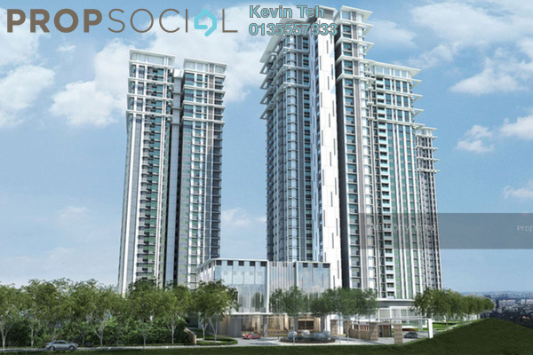 Condominium For Sale in Pavilion Hilltop, Mont Kiara Freehold Semi Furnished 3R/4B 2.16m