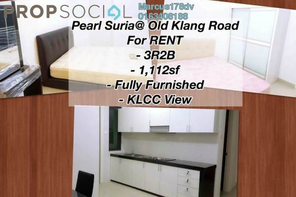Condominium For Rent in Pearl Suria, Old Klang Road Freehold Semi Furnished 3R/2B 2.5k