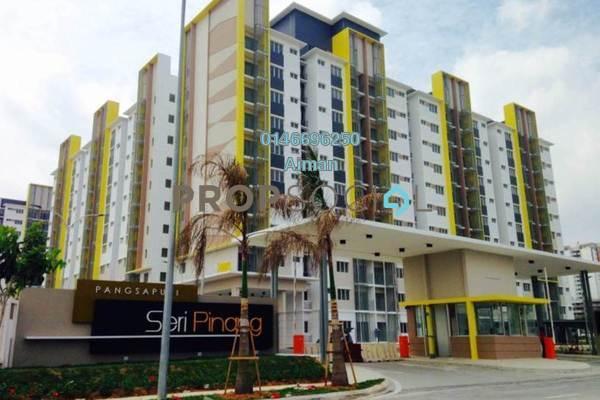 Apartment For Sale in Seri Pinang Apartment, Setia Alam Freehold Unfurnished 3R/2B 315k